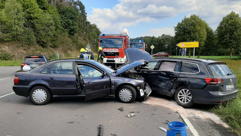 Verkehrsunfall auf der L722 bei Rudersdorf