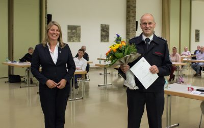 Gerd Boller ein weiteres Jahr in der Wilnsdorfer Wehrführung