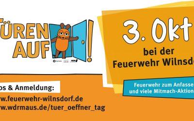 """""""Türen auf für die Maus"""" am 3. Oktober 2019 bei der Feuerwehr in Wilnsdorf"""